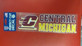 "NCAA Central Michigan Chippewas Perfect Cut Decal 3"" x 10"" - $9.79"