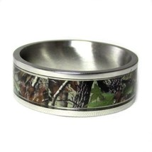 Camo ring Unisex Hunting Camouflage 7mm Wedding Band Ring Army Real Fore... - $22.99