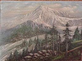 Mt Rainier, Oil Painting by F.A. DeHaven (c 188... - $7,425.00