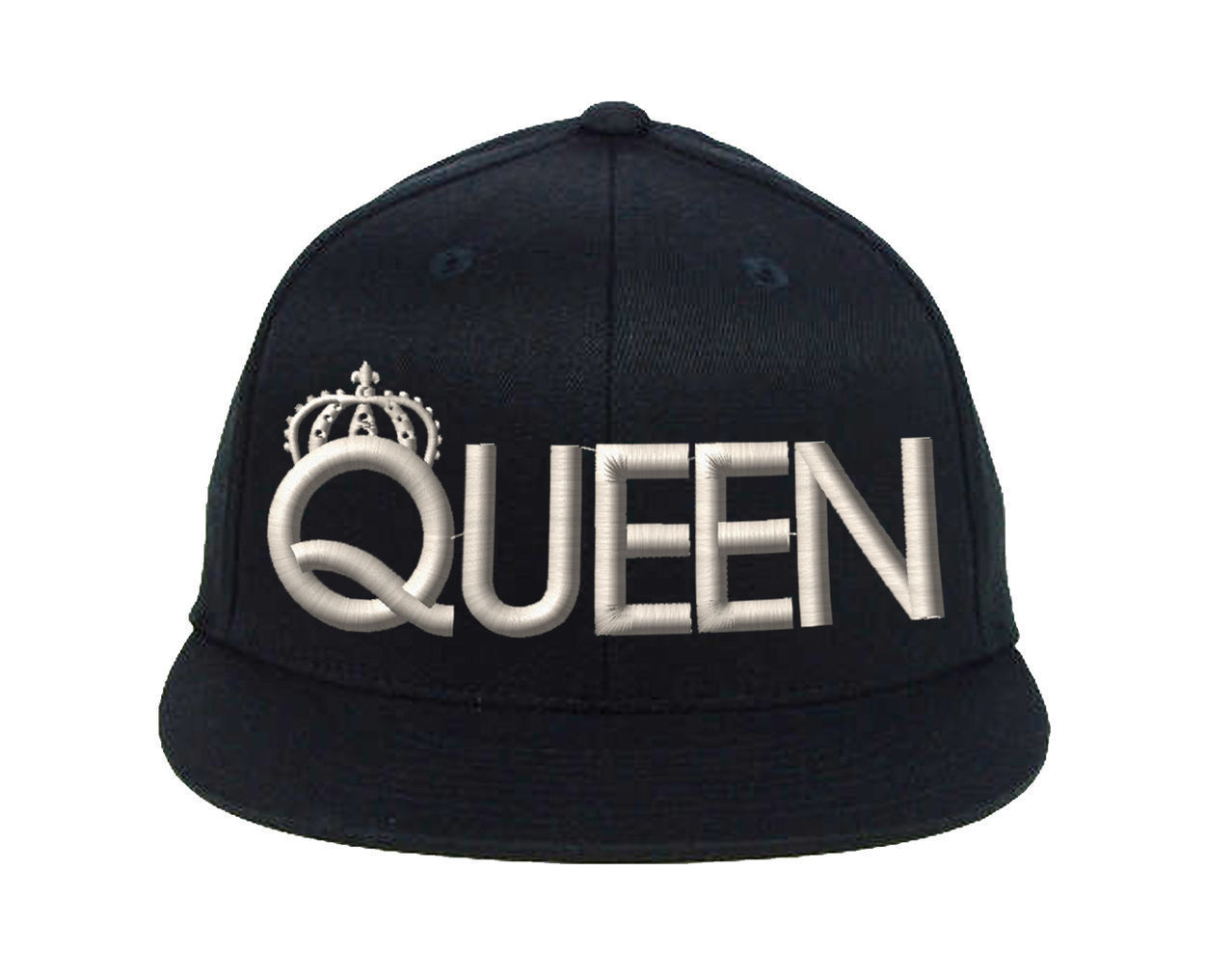 QUEEN Snapback White Thread, Fine Finished Embroidery Cap
