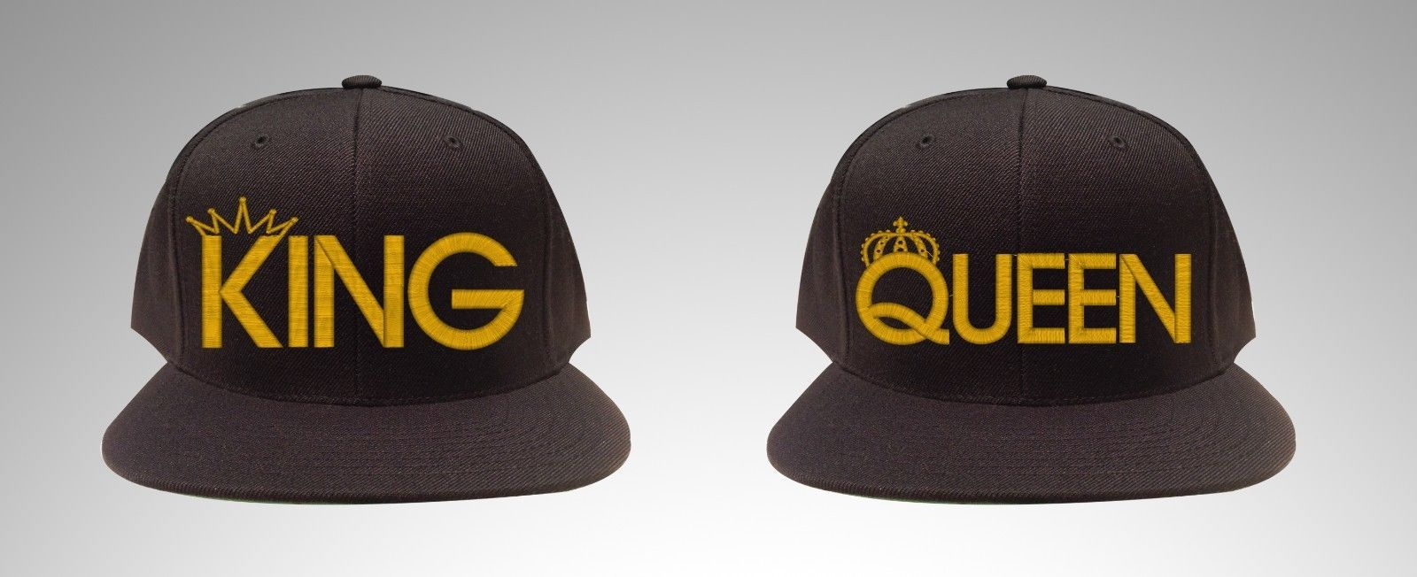 King & Queen, For Couples and King Only and Queen Only ,  SNAPBACK Hats