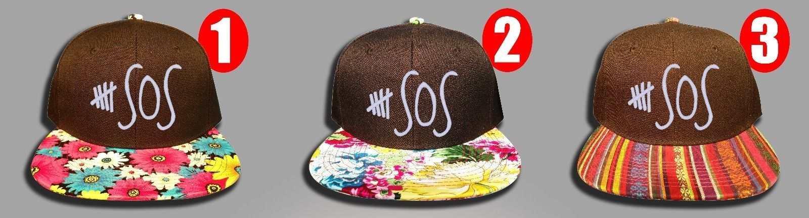 5 Seconds of Summer, FLoral Colors, Snapback Hat
