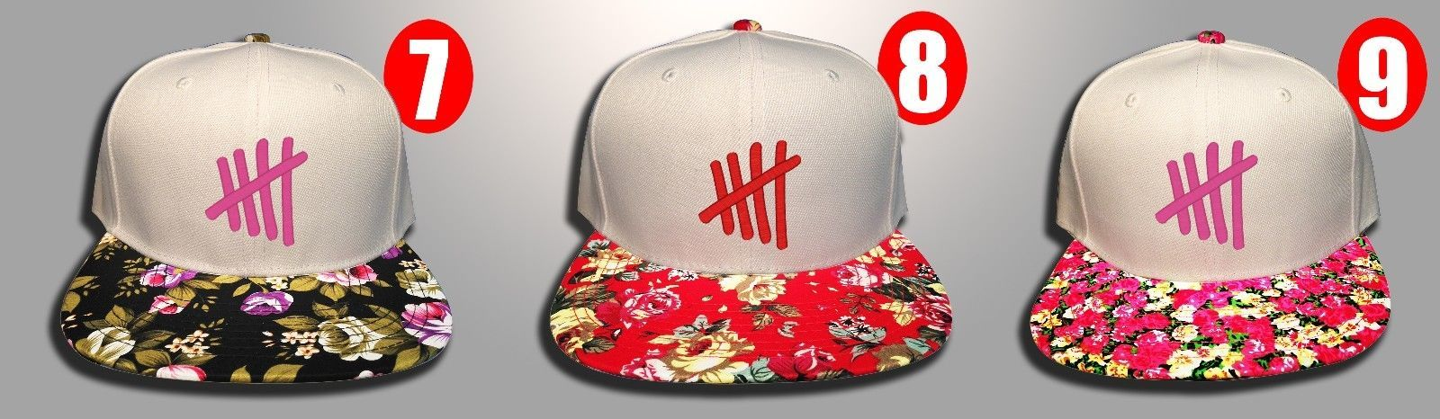 5 Seconds of Summer, 5 SOS, FLoral Colors, Snapback Hat New