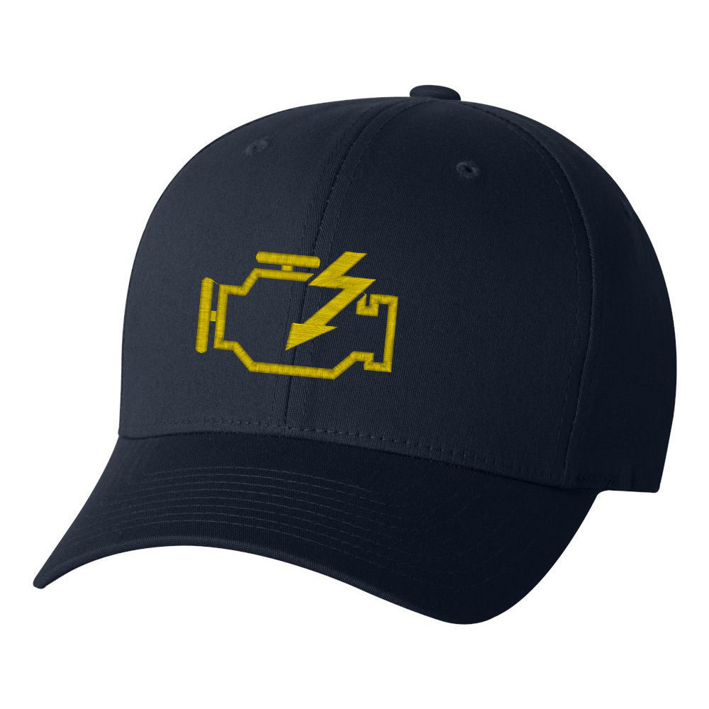 Check Engine Light Flexfit, Fine Finished Embroidery Hats