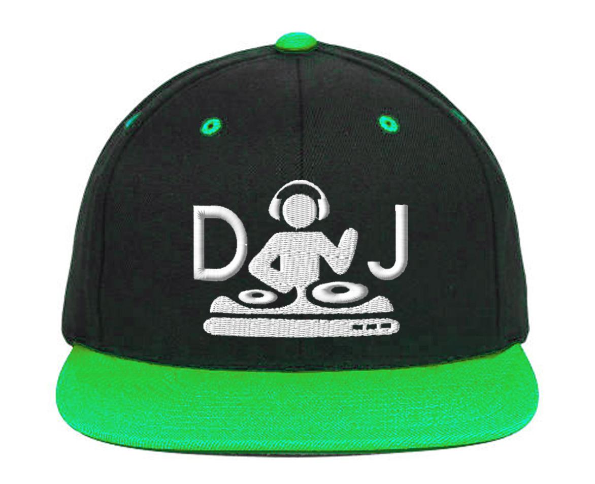 DJ Turntable, Embroidery Snapback Hat
