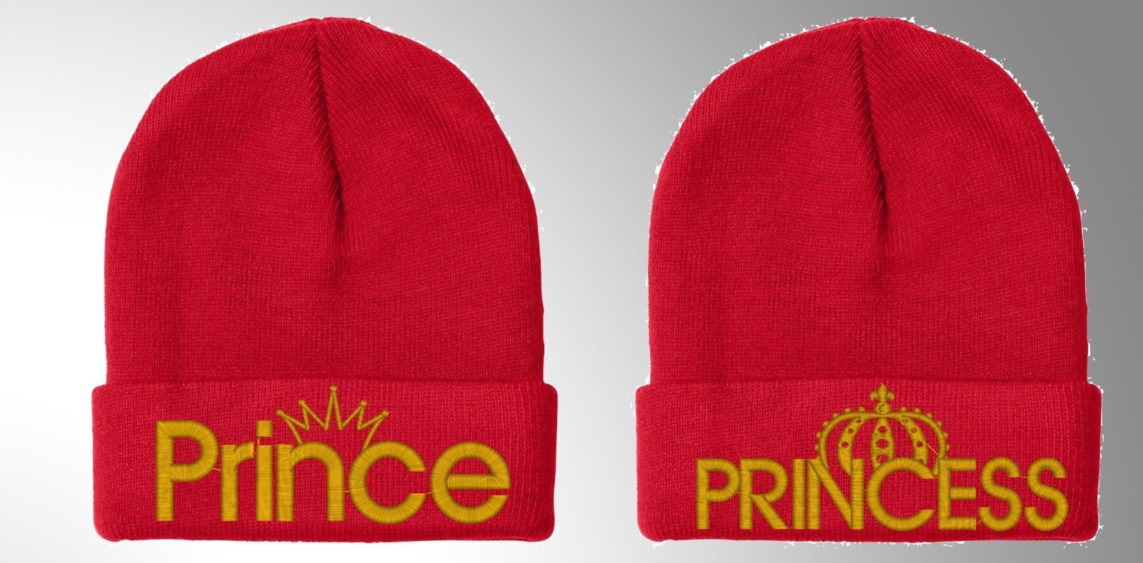 """Prince & Princess Fine Finished Embroidery, 12"""" Winter Beanie"""