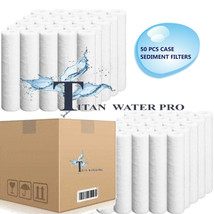 50 PC REVERSE OSMOSIS WATER FILTERS SEDIMENT 10 MICRON - $64.35