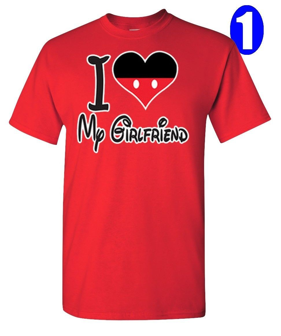 8189668c I Love My Boyfriend & Girlfriend, Disney Figure, Perfect Couple, 2 T-
