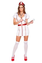 Sexy Roma Caretaker Cutie Nurse Halloween Costume W/WO STOCKINGS S/M M/L... - $59.00+