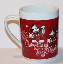 "Walt Disney Mickey and Minnie Mouse ""Caroling Together"" Christmas Mug - $24.74"