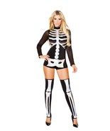 Sexy Roma Jackie Skeleton Bones Romper Costume ... - $65.00 - $84.00