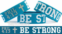 Be Strong Philippians Phil 4:13 Wristband Bracelet Bible Scripture Free Shipping - $9.88