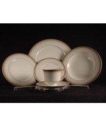 Sango China Dinnerware Taupe Mist 6 Piece Place Setting Excellent Cond. - $34.99