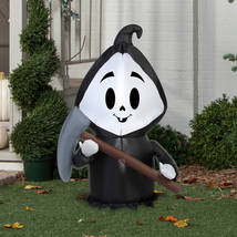 Halloween Decoration Outdoor Party Reaper Yard Decor Airblown Inflatable... - $39.99