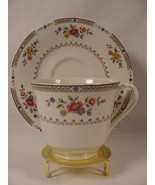 Royal Doulton Kingswood Cup & Saucer Flowers Gold Trim - $24.99