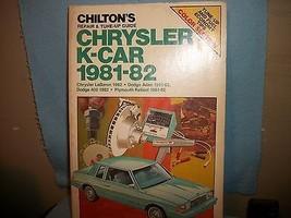 Chilton's Repair & Tune-Up Guide,CHRYSLER K-CAR... - $12.19