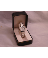 Women's Castleton Quartz Stainless Steel Watch in Original Box Silver and White - $32.98 CAD
