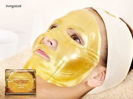 10 GOLD Bio-Collagen Facial MASK Crystal, colageno mascarilla, colageina 10 - $23.76