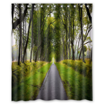 Street Landscape #01 Shower Curtain Waterproof Made From Polyester - $31.26+