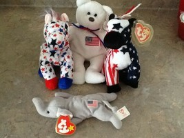Ty political Animals 2 Lefty, 1 Liberty and Teeny Babie Righty - $24.75