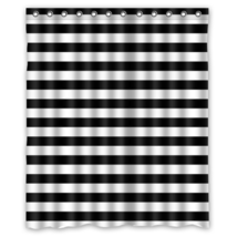Stripe #02 Shower Curtain Waterproof Made From Polyester - $31.26+