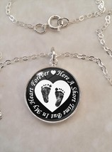 Sterling Silver .925 Pendant Heart Forever Infant Loss Stillbirth Miscar... - $30.20