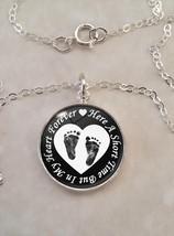 Sterling Silver .925 Pendant Heart Forever Infant Loss Stillbirth Miscar... - $30.20