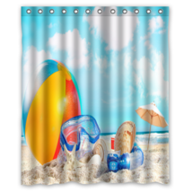 Summer Holiday #01 Shower Curtain Waterproof Made From Polyester - $31.26+