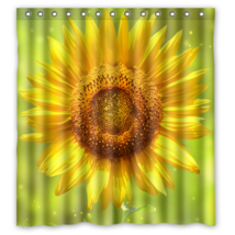Sun Flower #02 Shower Curtain Waterproof Made From Polyester - $31.26+