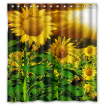 Sun Flower #03 Shower Curtain Waterproof Made From Polyester - $31.26+