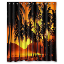 Sunset #01 Shower Curtain Waterproof Made From Polyester - $31.26+