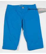 SOUNDGIRL NEW WOMENS JUNIORS SIZE 7 BERMUDA CROPPED SHORTS BLUE NWT - $13.45