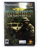 Socom 3 u.s. navy seals Sony PlayStation 2, PS2 year 2005 game - $8.90