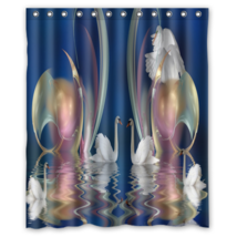 Swan Swi On The Water #01 Shower Curtain Waterproof Made From Polyester - $31.26+