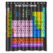Periodic Table #10 Shower Curtain Waterproof Made From Polyester - $31.26+