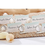 Silver Seashell Place Card Holders Set of 6 Wedding Beach Sand Summer Pa... - $10.87