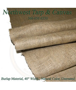 """Burlap Material, 10oz. Natural Color, Untreated, Sold By-The-Yard 36""""  x... - $4.29"""
