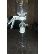Vacuum Glass Buchner Filtration Assembly for 47mm Disc Filter 1000mL App... - $85.79
