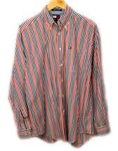 Vintage Tommy Hilfiger 100% Cotton Striped Button Front Shirt - Size M - $39.55