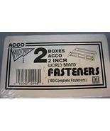 ACCO 2 Boxes 2 Inch World Brand Fasteners 50 per Box 1/2in. Metal - $19.99