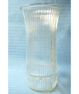 Hoosier Indiana Clear Pressed Glass Ribbed Flared Top Vase #4089-8 - $32.61