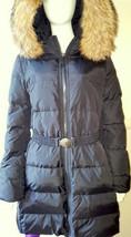 COACH F83284 Women's Long Legacy Puffer Down Fur Coat Jacket Belt - LARGE - $598 - $232.82