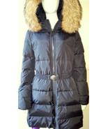 COACH F83284 Women's Long Legacy Puffer Down Fur Coat Jacket Belt - LARG... - $232.82