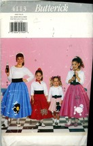 Butterick 4113 Poodle Skirts and Petticoats  Cut Size Girl 4-5  - $5.50