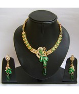 Indian Bridal Jewelry Set Bollywood Diamond and Multicolor Stones NP-386 - $79.99