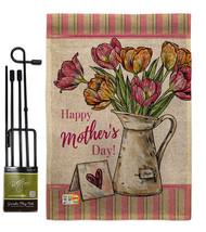 Mother Day Bouquet Burlap - Impressions Decorative Metal Garden Pole Flag Set GS - $33.97