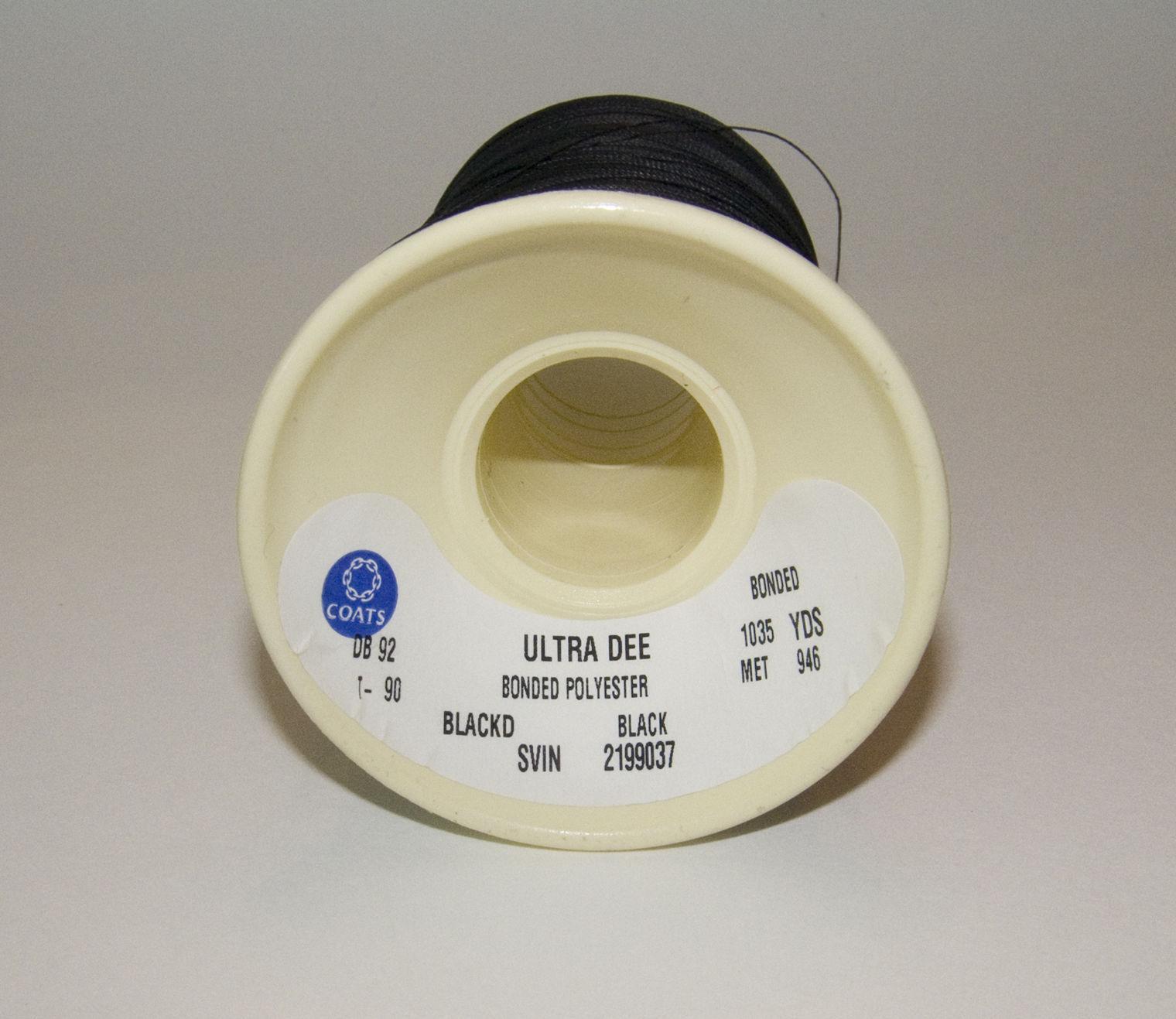 Thread, Polyester, Coats Bonded, Thread-4 oz. Spool, Black - Size DB-92 T-90