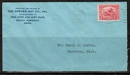 U.S.A. Scott #549 ON COMMERCIAL COVER TO MICHIGAN (APR/20/1921)  (OS-255)  - $4.95