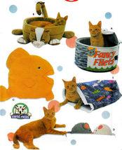 FUN CAT BEDS, FISH PILLOWS, CATNIP MICE, SACK PATTERNS SIMPLICITY 5233 ... - $14.98