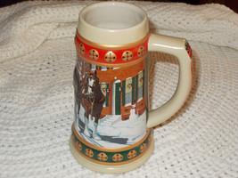 1994 Budweiser Bud Hometown Holiday Clydesdale  Beer Stein/Mug - $2.99